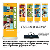 Retractable banner WITH stand Thumbnail